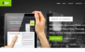 Grind responsive Thesis skin for WordPress