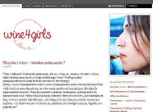 Tworzenie stron www wine4girls