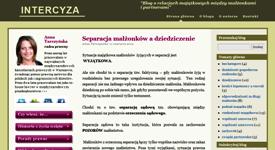 Budowa bloga Intercyza-blog.pl