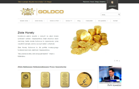 E-commerce site development goldco.pl